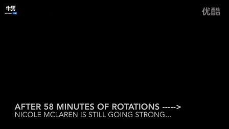 打破世界纪录 女子一小时内跳卡萨克舞旋转3552次
