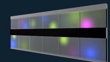 led墙面灯光效果