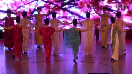 重慶陪都女子藝術團加入重慶電視臺霧都夜話3周年紅梅贊
