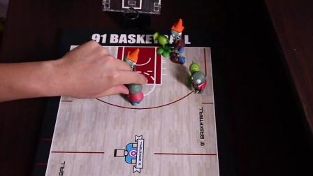 91篮球教学 35 全场比赛如何进攻半场阵地人盯人 及 无球跑位  (中)