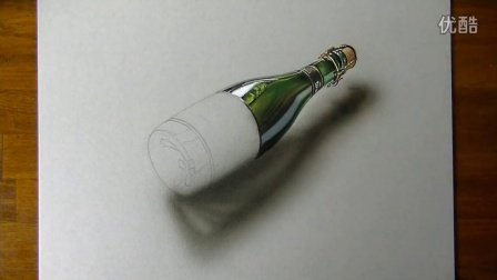 【藤缠楼】意大利立体画家手绘一瓶啤酒3d画 [marcello barenghi]