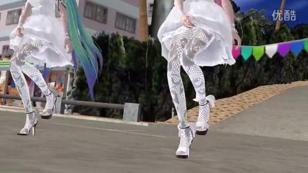 magnet动漫美女3D【MMD】Miku Luka水晶鞋热舞