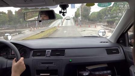 华茂基地新桑塔纳坡道定点停车