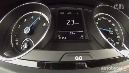 2015 大众高尔夫r 手动挡车型测试加速
