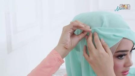 侧边纱巾辫子编法
