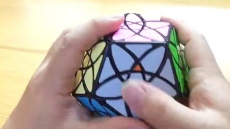 紫荆花魔方还原教程第4集还原三角形中心块