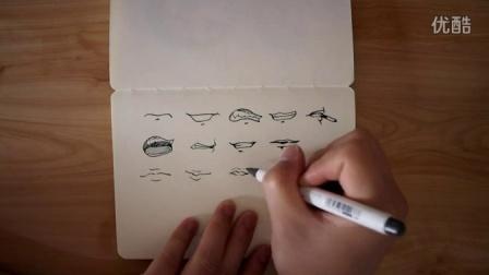 【素描人物】各种嘴巴画法150610
