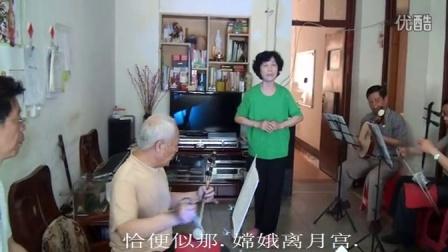 """汉剧""""贵妃醉酒""""由湖北汉川票友汪先云在家演"""