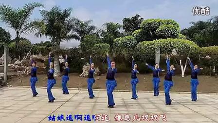 纯艺舞吧广场舞姑娘追含背面分解动作教学