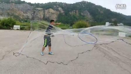 第四代弹性助力环480大网飞饼抛手抛网技巧