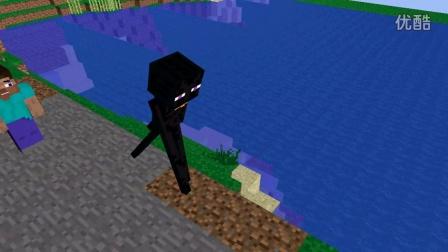 我的世界动画末影人黑星星与史蒂夫的故事