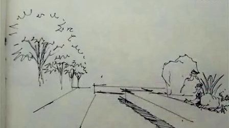 陈立飞老师 园林景观手绘公园线稿(1)—广州零角度手绘培训视频