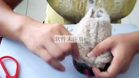 林儿手工编织兔子花图解