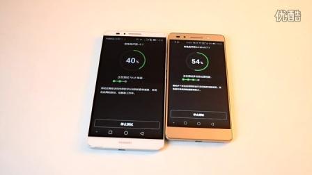 華為MATE7 電信標準版 與 榮耀7 高配 全網通 性能模式 跑分對比