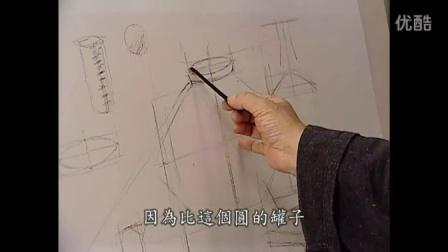 画画教程素描 素描静物构图 素描手绘