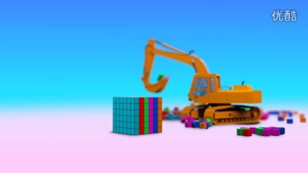挖掘机动画 方块