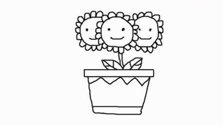 简笔画教学法 向日葵
