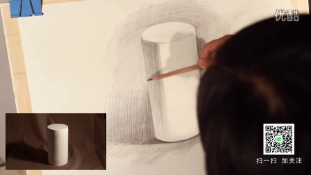 素描基础教程-石膏几何体明暗关系