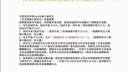 2015年天津美術學院油畫系(學術型)考研錄取分數線