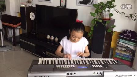 乐乐电子琴独奏《编花篮》