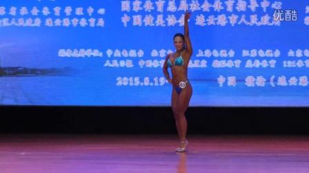 [健人出品]独家首播!中国健身锦标赛女子形体B组半决赛(自选比基尼)12人
