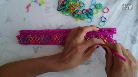 挪拉马修编织机 编织橡皮筋手链方法