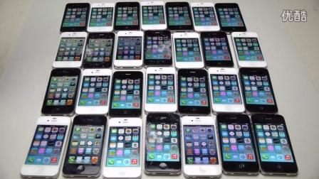 丧心病狂!28台iPhone摆放好,拿着大锤子挨个砸