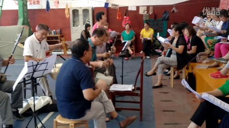 我们柔力球协会的汉剧班在学汉剧