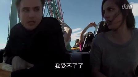 被逼坐过山车,男友在半空中怒甩女友