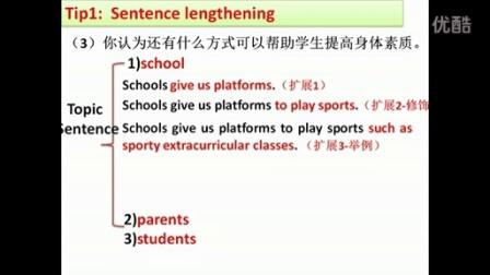 高三英语微课视频 广东高考英语读写任务之如何写好扩展句(方法措施类)