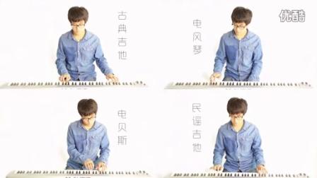 5台琴同时演奏【情非得已】