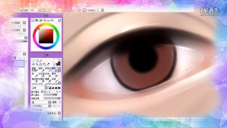 转手绘眼睛和眉毛的简单绘制教程