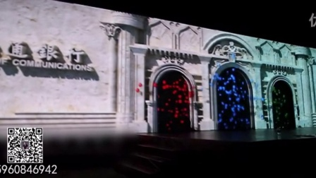 漫思图数码-室内墙体3d投影现场