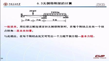奥鹏教育&中国石油大学(北京)-结构力学-6.3 高清视频