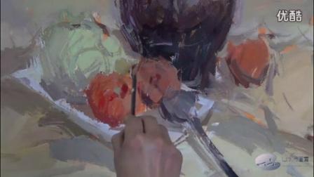 蔬菜类色彩静物 -名师色彩-杭州山水行画室-艾鹏色彩教学示范