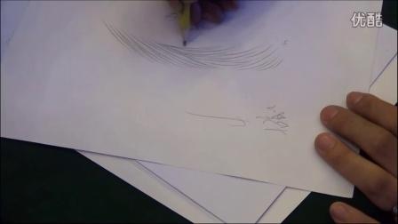 郑州先锋纹绣韩式半永久 6d水雾眉的线条画法和打雾的手法