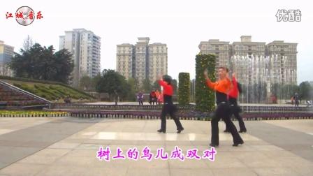 江城音乐《夫妻双双把家还》恰恰广场舞