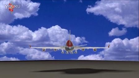 飞机起飞完美动画 跨国商务