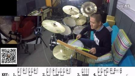 凯文先生 灌篮高手 主题曲架子鼓第一课教学教程自学速成