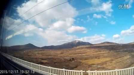 高铁路边的风景图