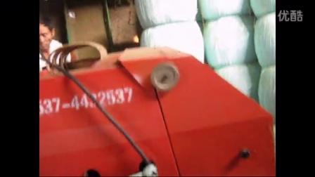 牛羊养殖技术草料微贮设备青贮面包草打包机械视频