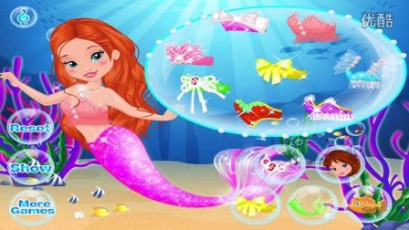 美人鱼公主之芭比公主 美人鱼宝贝沐浴时光 迪士尼公主美人鱼益智亲
