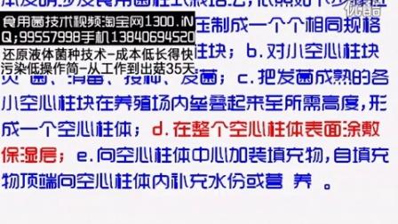 空心柱块灿菌、消毒、接种、发菌食用菌柱式栽培��专利技�c006-1-21 20-35-09食用菌shiyongjun