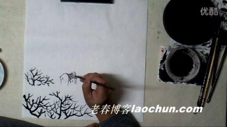 山水画教程 学画小景画13 富春江畔上