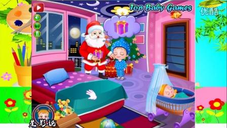 可爱宝贝的圣诞新年礼物