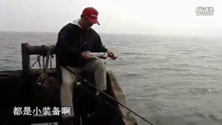 桥上筏竿钓鱼 野河钓鲫鱼 海竿钓鲢鱼线组图解