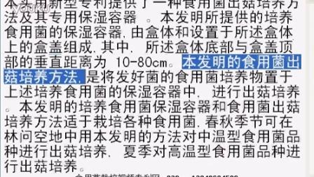 一种食用菌出菇培养方法及其专用保湿容器食用菌shiyongjun
