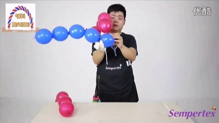 魔术气球作品气球棒棒糖教程