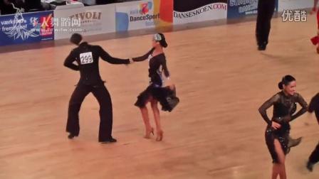 2016年欧洲体育舞蹈锦标赛(哥本哈根)拉丁舞半决赛牛仔阎棒棒 朱静Yan Bangbang - Zhu Jing