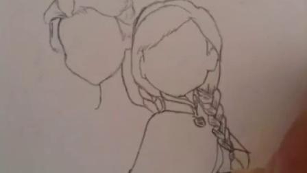 艾莎和安娜手绘